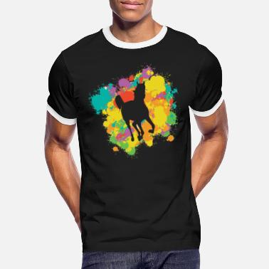 Foal Horse Silhouette With A Colorful Frame - Men's Ringer T-Shirt