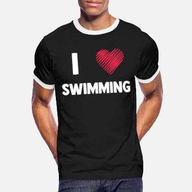 Outdoor Swimming Pool Swimming diving swimming pool outdoor swimming pool water sea - Men's Ringer T-Shirt