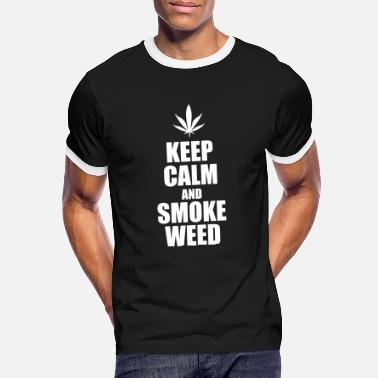 Keep Calm Keep Calm and Smoke weed - Cannabis - T-shirt contrasté Homme