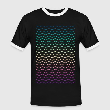 Minimal Geometry Hipster Lines (colorful/rainbow) - Men's Ringer Shirt