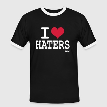 i love haters by wam - T-shirt contrasté Homme