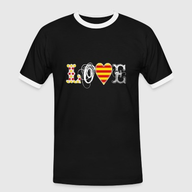 Love Catalonia White - Men's Ringer Shirt