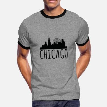 Cityscape CHICAGO - Cityscape - Men's Ringer T-Shirt