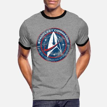 Space Star Trek Discovery Starfleet Insignia - Men's Ringer T-Shirt