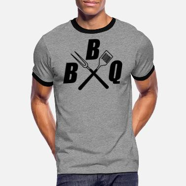 Bbq Supply BBQ cutlery BBQ - Men's Ringer T-Shirt