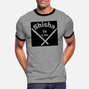 Shisha is life - Smoke - Männer Ringer T-Shirt
