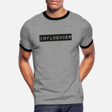 Influencer box logo - Kontrast T-shirt mænd