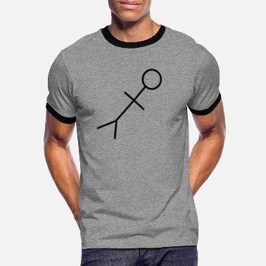 Stick figure weird gift idea trend - Men's Ringer T-Shirt