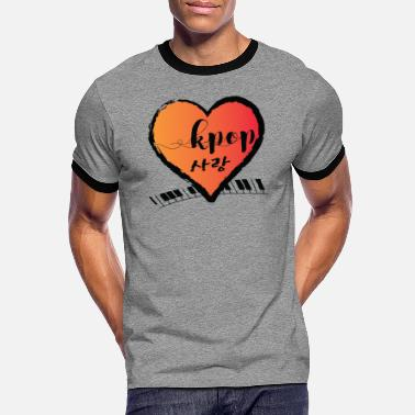 KPOP SARANG heart - Men's Ringer T-Shirt