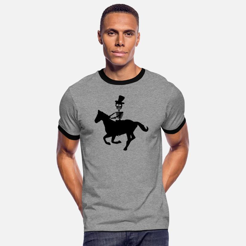 hest Kontrast T skjorte for menn | Spreadshirt