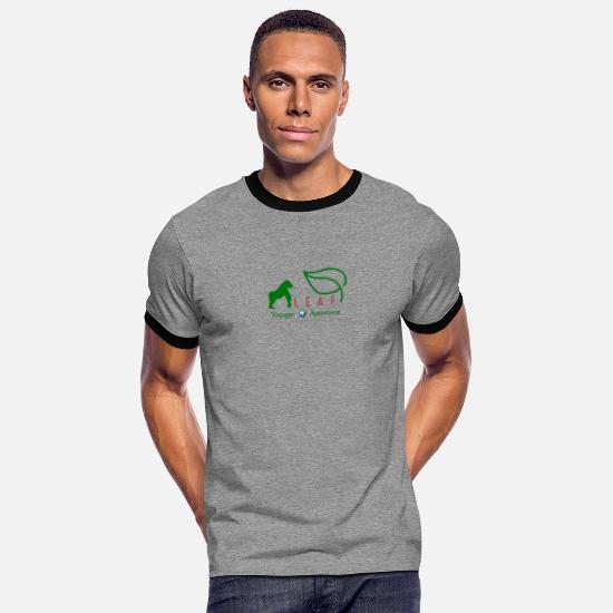Tanzania T-Shirts - LEAF - Men's Ringer T-Shirt heather grey/black