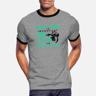 Education Is Important Education Is Important But Cycling Is Important - Men's Ringer T-Shirt