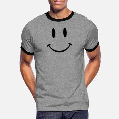 Emoticon Big Smiley - Männer Ringer T-Shirt