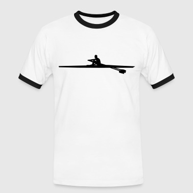 rowing single - man - Men's Ringer Shirt