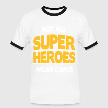 Not All Super Heroes - Männer Kontrast-T-Shirt