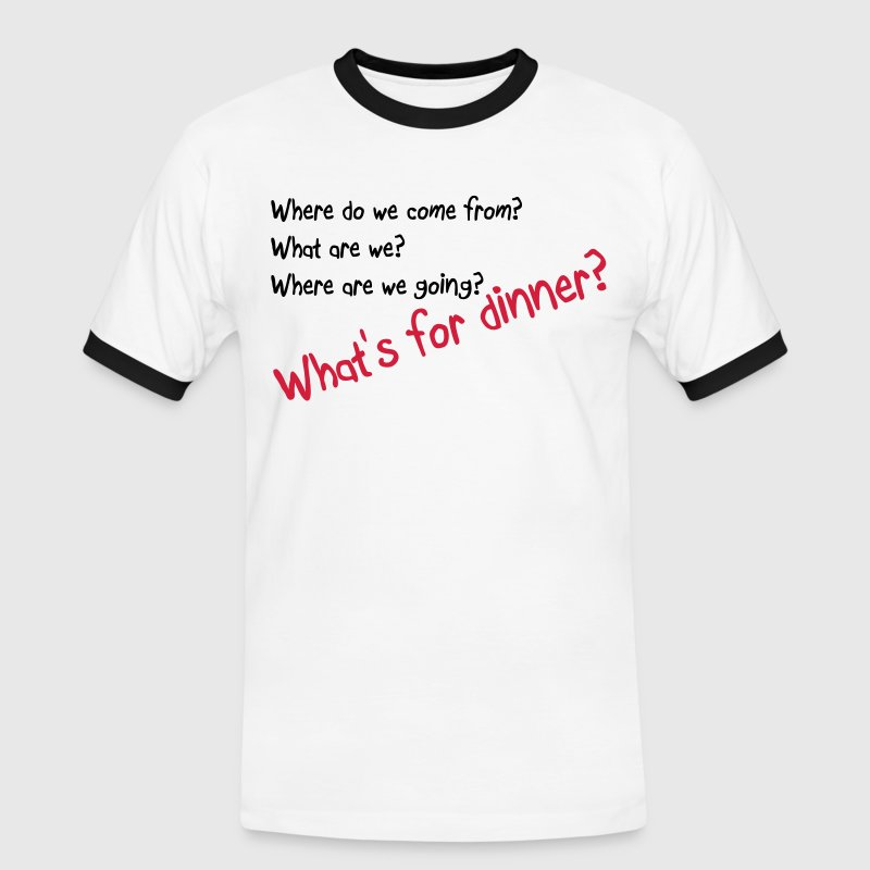 What's for dinner - Men's Ringer Shirt