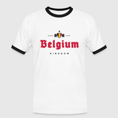 Belgium Kingdom beer label - Mannen contrastshirt