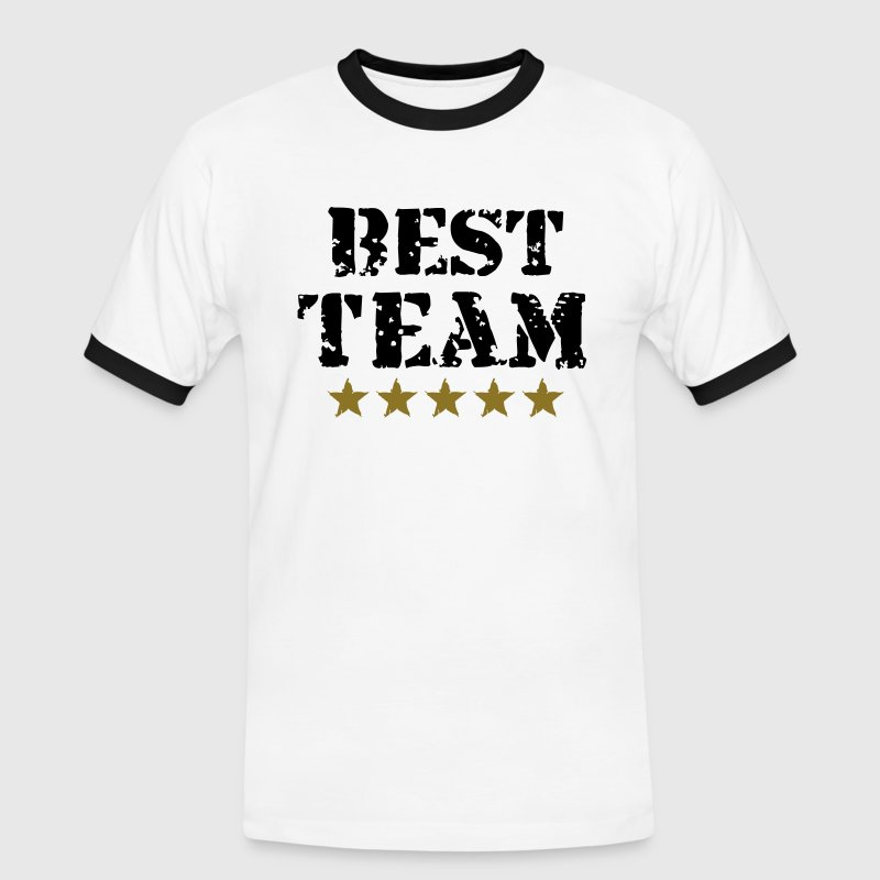 Best Team, 5 Stars, Champions, Sports, Winner - T-shirt contrasté Homme