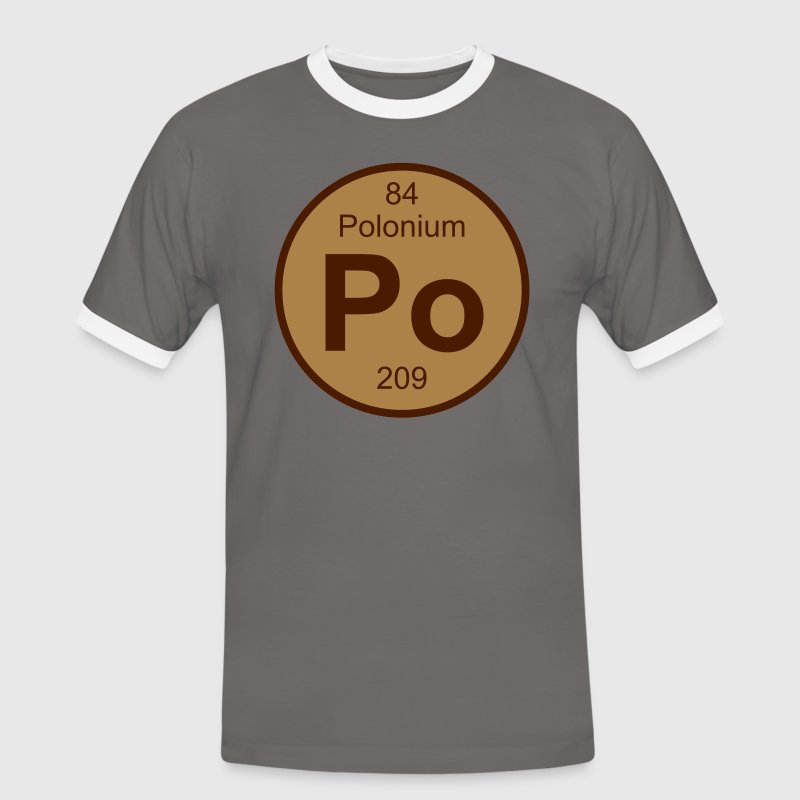 Polonium (Po) (element 84) - Men's Ringer Shirt
