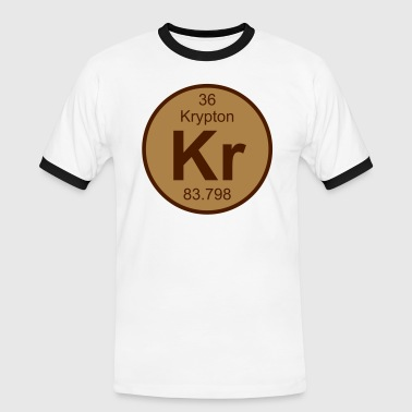 Element 36 - kr (krypton) - Round (white) - Männer Kontrast-T-Shirt