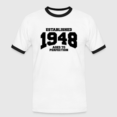 aged to perfection established 1948 (nl) - Mannen contrastshirt