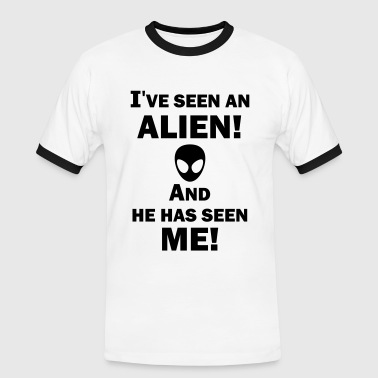 I've Seen an Alien! - Herre kontrast-T-shirt