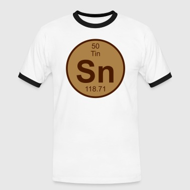 Element 50 - sn (tin) - Round (white) - Camiseta contraste hombre