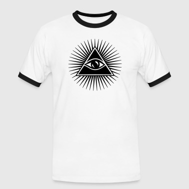 All seeing eye, pyramid, Freemason, God, Horus - Men's Ringer Shirt
