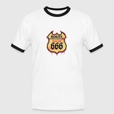 With Full Force Route 666 - Bloody Style 3c - Männer Kontrast-T-Shirt