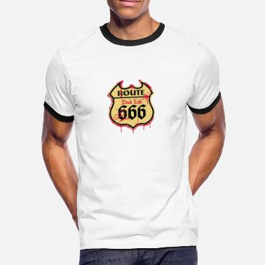 With Full Force Route 666 - Bloody Style 3c - Männer Ringer T-Shirt
