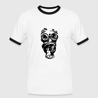 gas mask - Men's Ringer Shirt