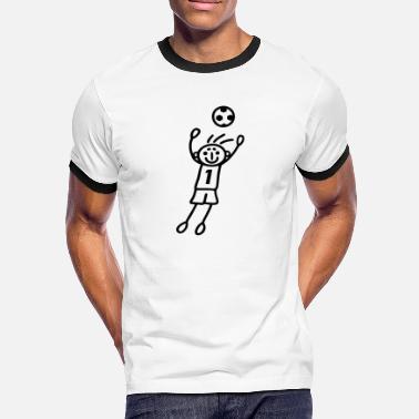 fa1ed7127f566 Handball Gardien De But Gardien de but numéro un - T-shirt contrasté Homme