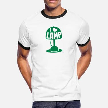 Anchorman I LOVE LAMP with light and cord - Men's Ringer Shirt