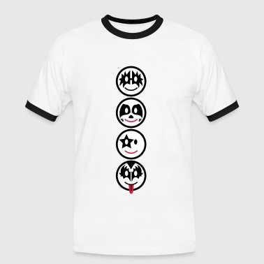 Smiley Kiss Icons (vertikal) 3c - Men's Ringer Shirt