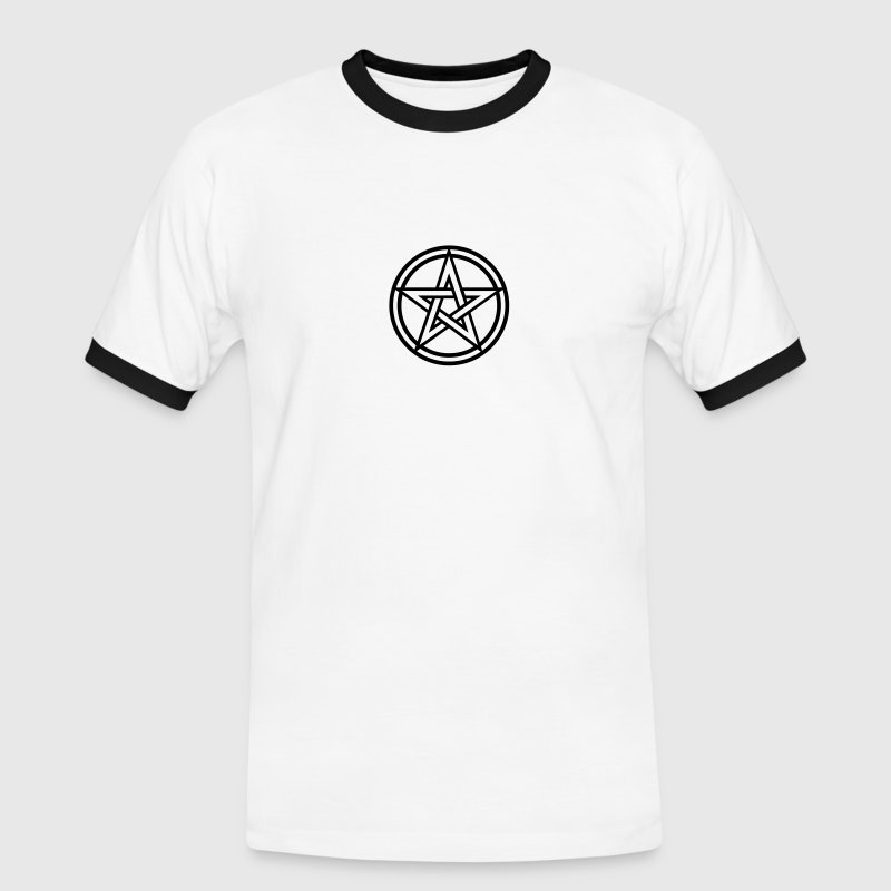 Pentagram amulet- Sign of intellectual omnipotence and autocracy. 2c, Star of the Magi , powerful symbol of protection - Men's Ringer Shirt