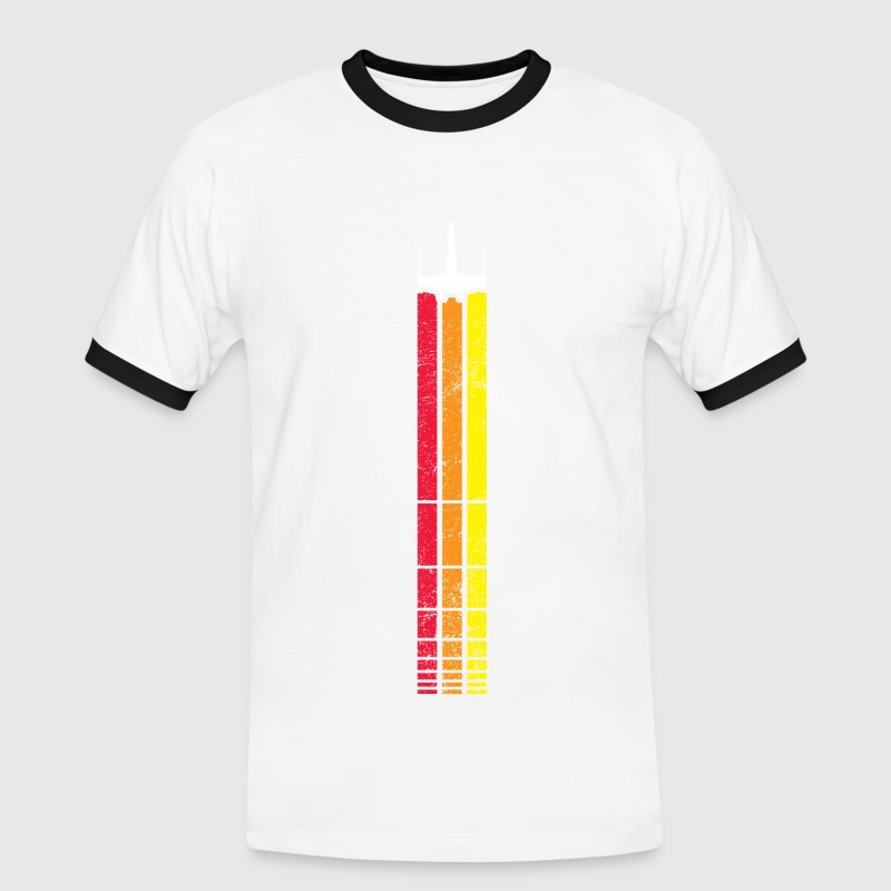 X-WING RETRO STRIP (WHITE - Men's Ringer Shirt