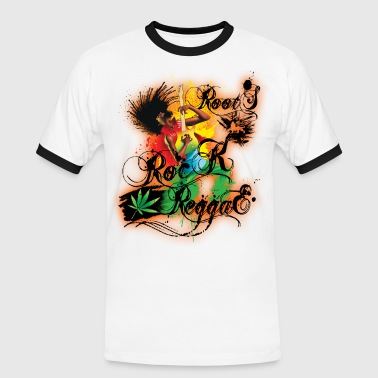 roots rock reggae - T-shirt contrasté Homme