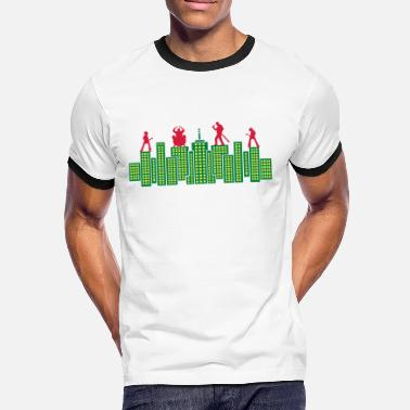 Pop Rock Rock Skyline Music Concert Tour - Camiseta contraste hombre