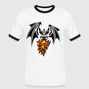 asymmetric black dragon - Männer Kontrast-T-Shirt