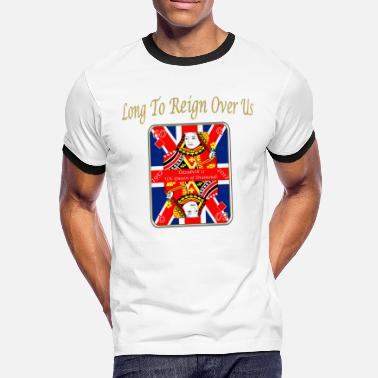 Diamonds queens diamond jubilee reign over us - Men's Ringer Shirt