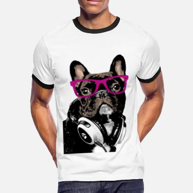 Bulldog AD Hipster Frenchie - Camiseta contraste hombre