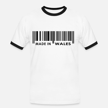Made In Wales Made in Wales bar code - Men's Ringer Shirt
