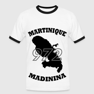 Martinique 972_Martinique_black - T-shirt contrasté Homme