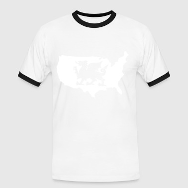 USA Welsh Dragon - Men's Ringer Shirt