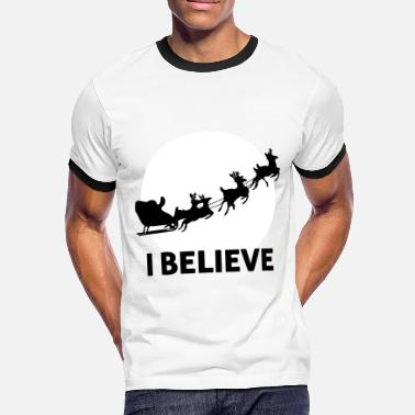 Santa I Believe In Santa Claus - Men's Ringer Shirt