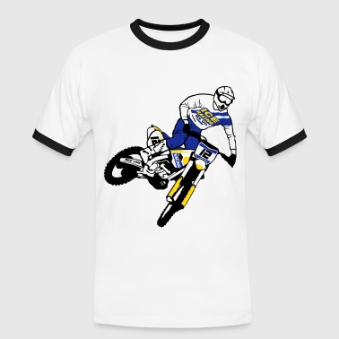 Husqvarna Supermoto Moto Cross - motocross   - Men's Ringer Shirt