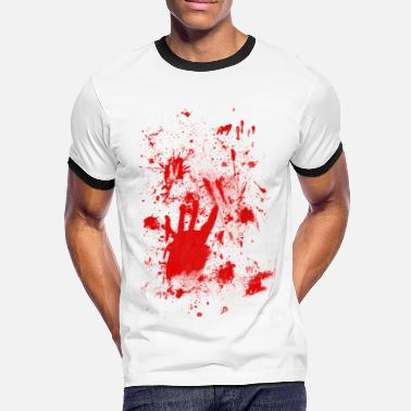 Blutspritzer Splashes of blood / blood Smeared - Männer Kontrast-T-Shirt