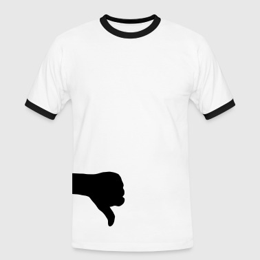 Thumbs thumb down - Männer Kontrast-T-Shirt