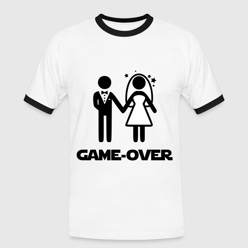 mariage GAME OVER - T-shirt contrasté Homme