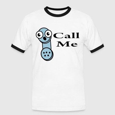 call me - Mannen contrastshirt